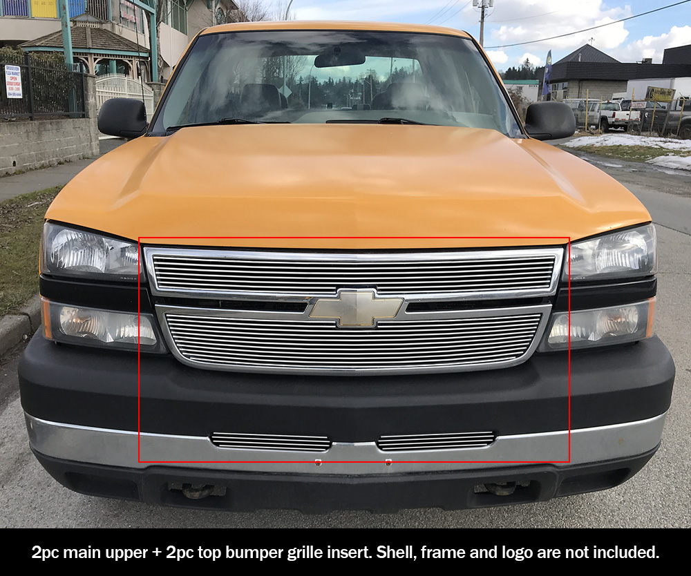 Fits Chevy Silverado 2500 05 1500 06 Billet Grille
