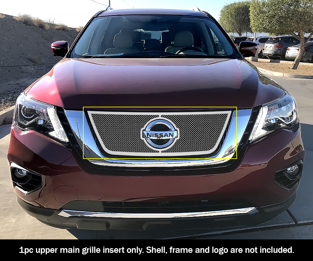 Fits 2017-2019 Nissan Pathfinder Logo Show Upper Chrome