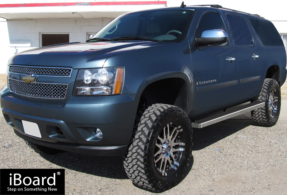 """iBoard Running Boards 4/"""" Fit 00-14 Chevy//GMC Suburban 3//4 TON"""