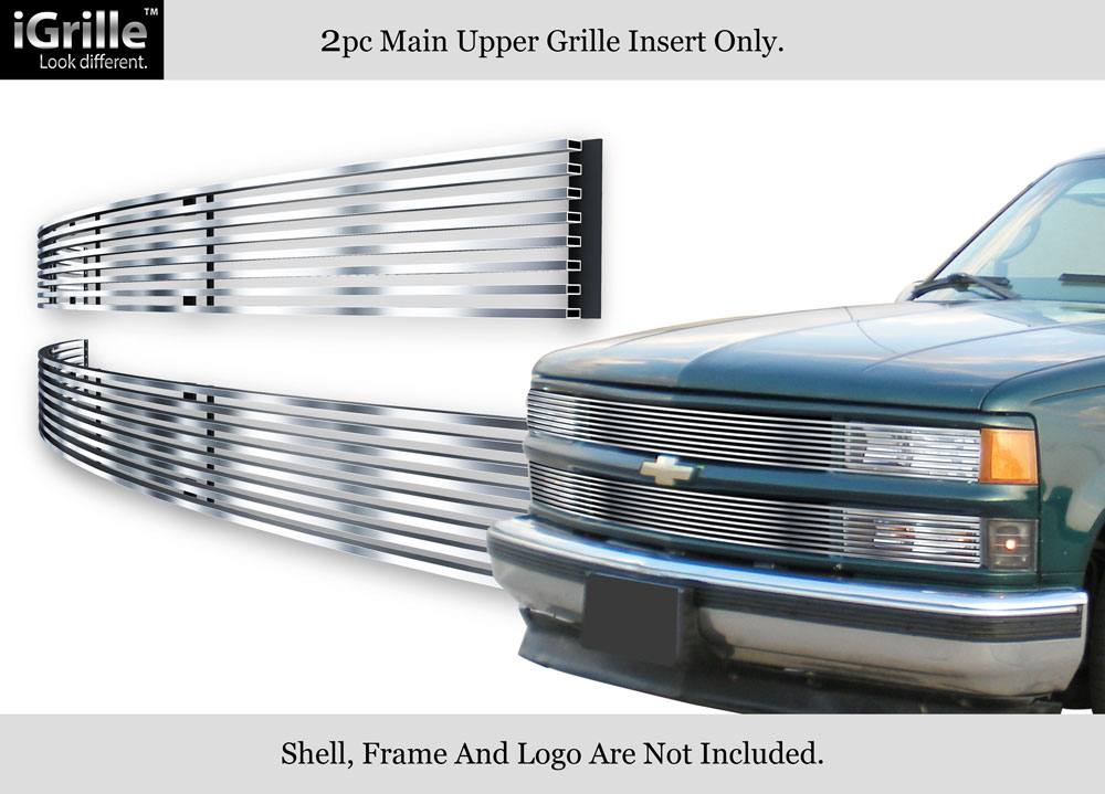 94-99 C//K Pickup//Suburban//Blazer//Tahoe Phantom Black Stainless Billet Grille