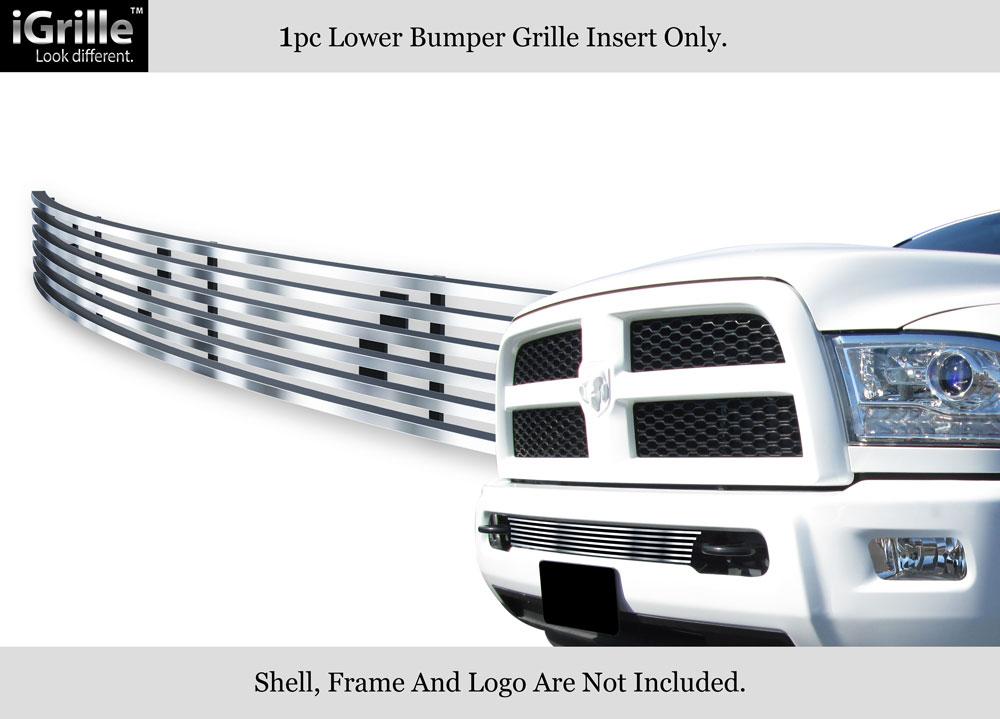 Fits 2013-2018 Ram 2500//3500 Black Lower Bumper Billet Grille Insert