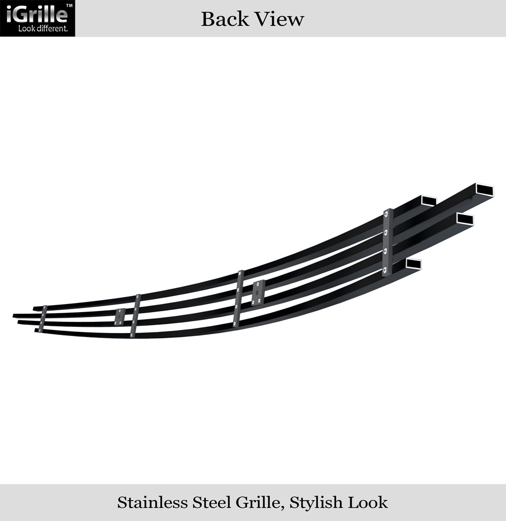 Fits 2007-2009 Toyota Tundra Top Panel Hood Scoop Stainless Black Billet Grille