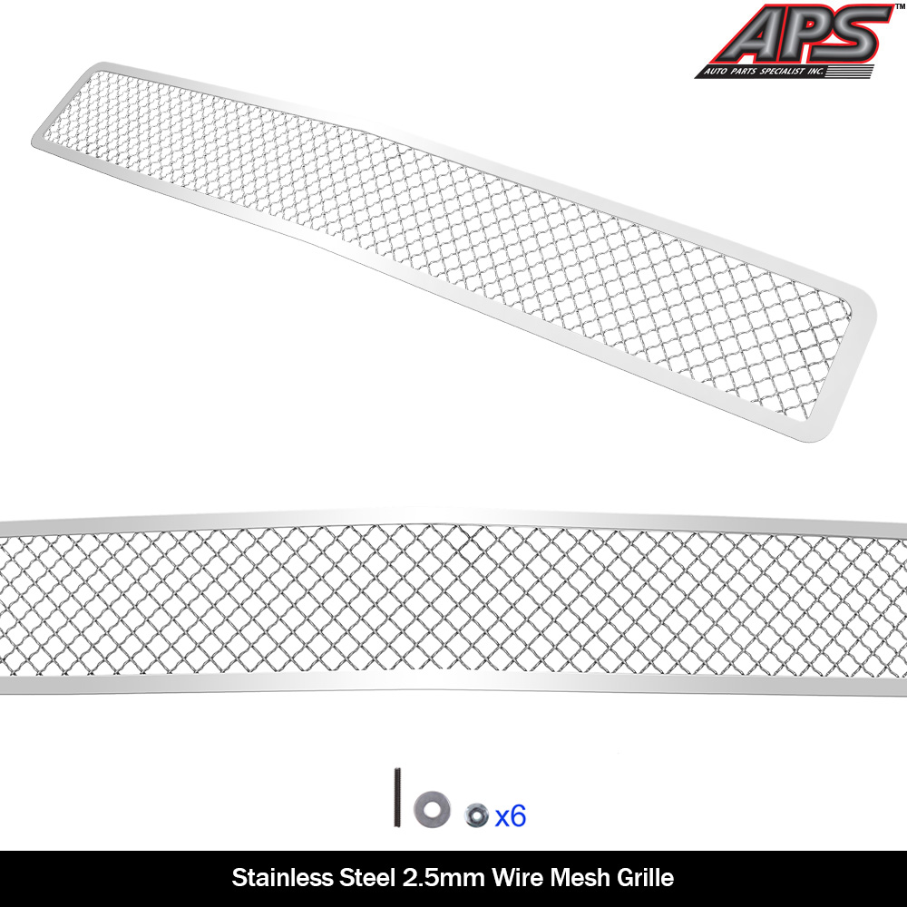 Paramount Restyling 46-0741 Black Stainless Steel Wire Mesh Bumper Grille Chevrolet Silverado 2500HD//3500HD Evolution