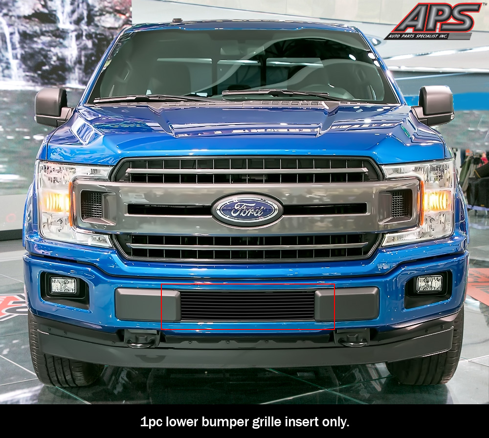 Boost-Bars Chrome Lower Two-Bar Bumper Grille Insert Compatible with 09-14 Ford F150