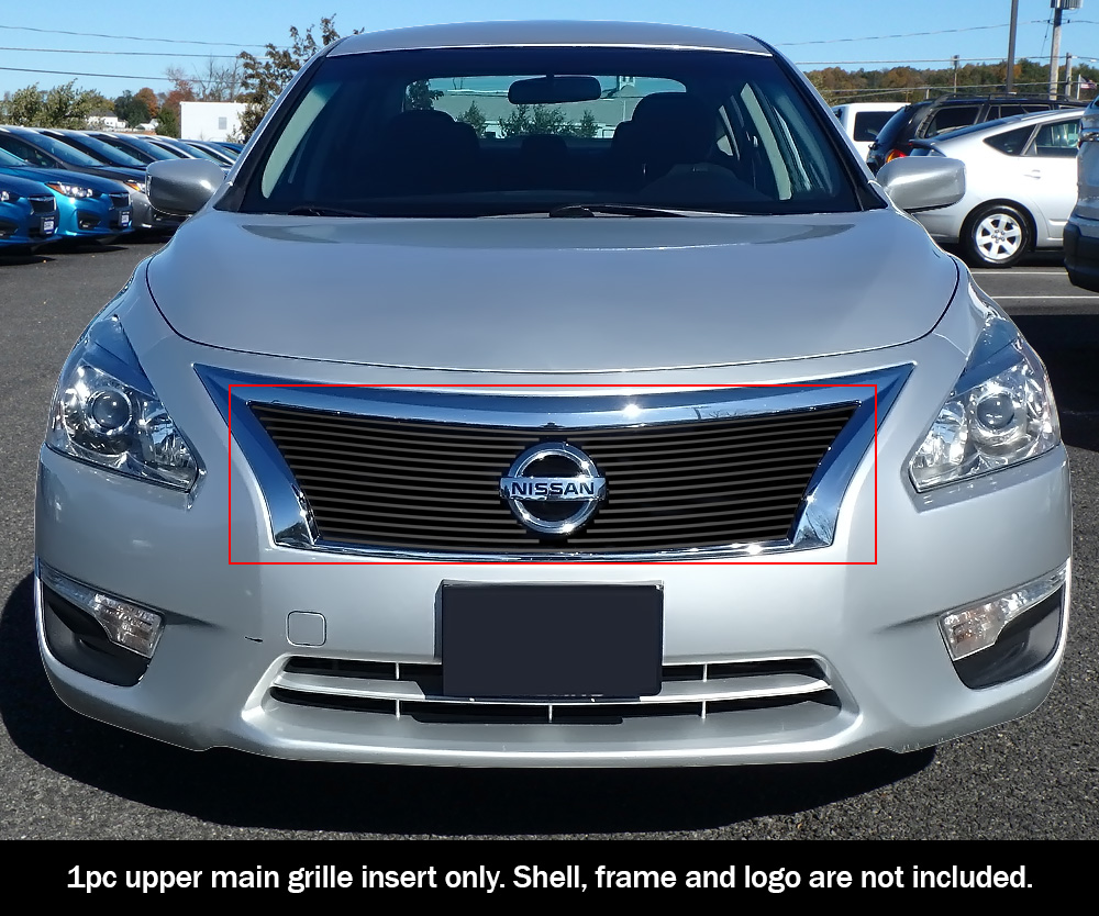 NEW 4 Dr. Sedan Chrome Grille Overlay Compatible with 2013-2015 Nissan Altima