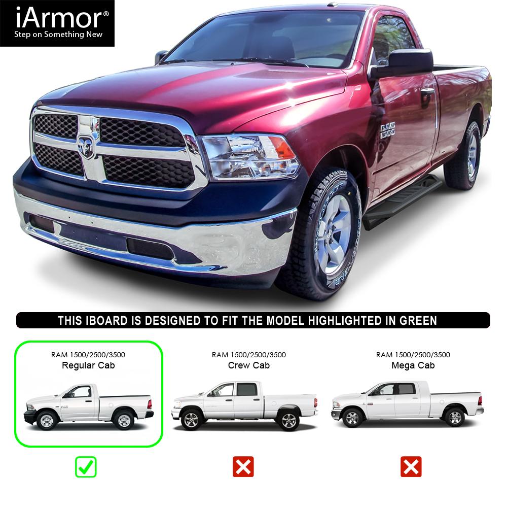"""IArmor 6.5"""" Side Armor Square For 09-18 Dodge Ram 1500"""