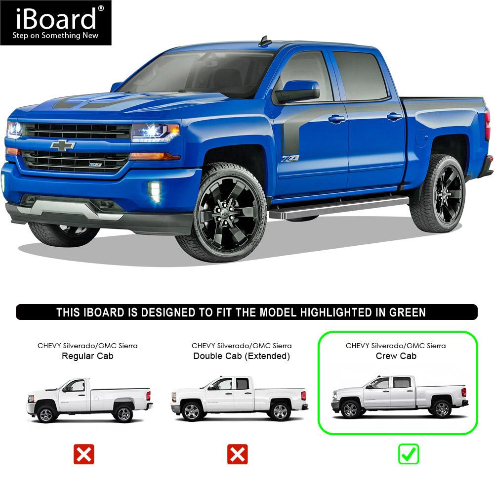 "Premium 5"" IBoard Side Steps Fit 07-18 Chevy Silverado GMC"