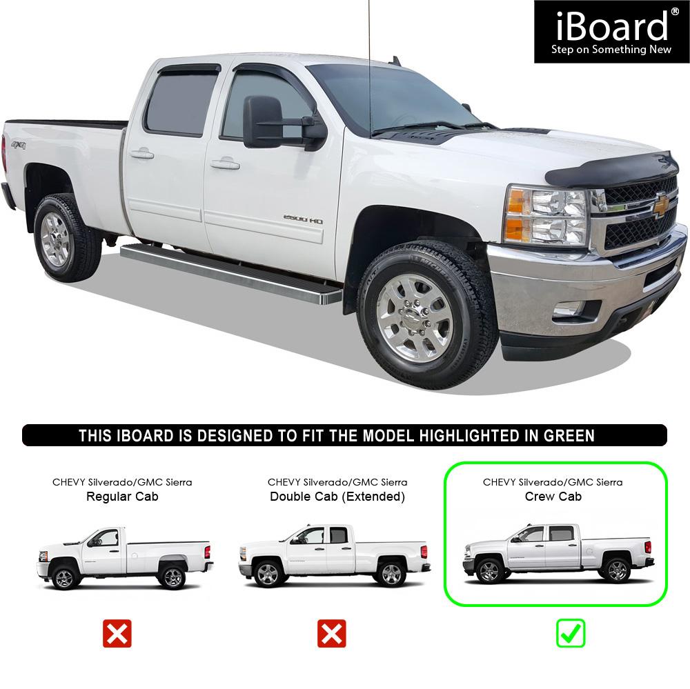 "Premium 6"" IBoard Side Steps Fit 07-18 Chevy Silverado GMC"
