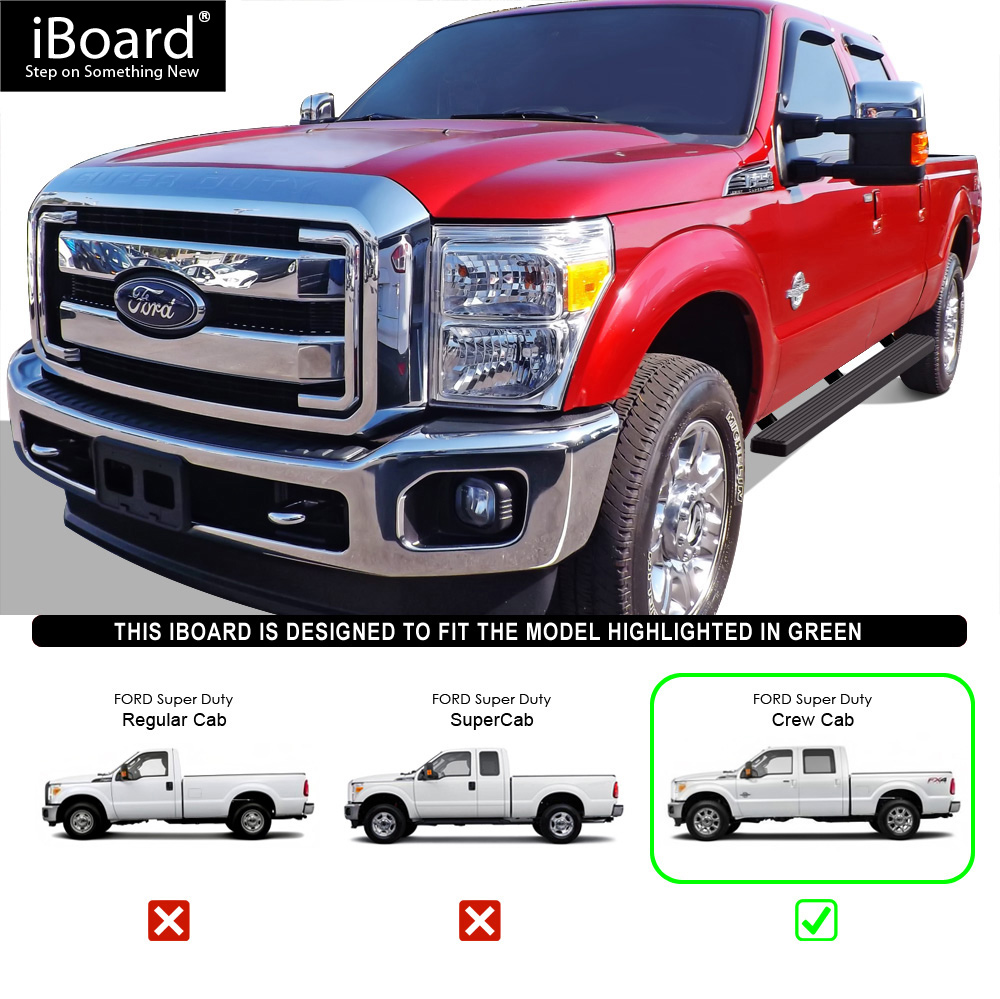 """4"""" IBoard Running Boards Nerf Bars Fit 99-16 Ford F250"""