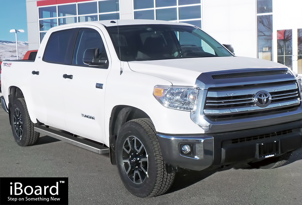 4 iboard running boards nerf bars fit 07 18 toyota tundra crewmax cab ebay. Black Bedroom Furniture Sets. Home Design Ideas