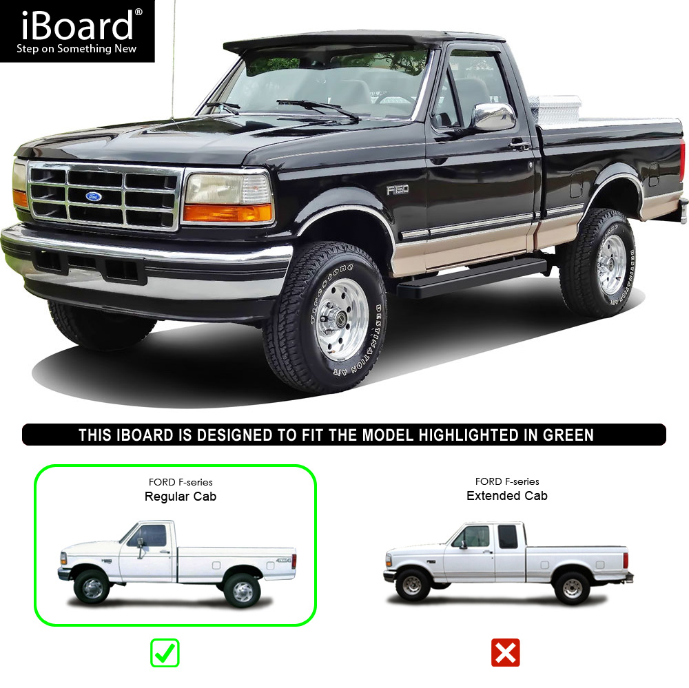 """5"""" Black IBoard Running Boards Nerf Bars Fit 80-96 Ford"""