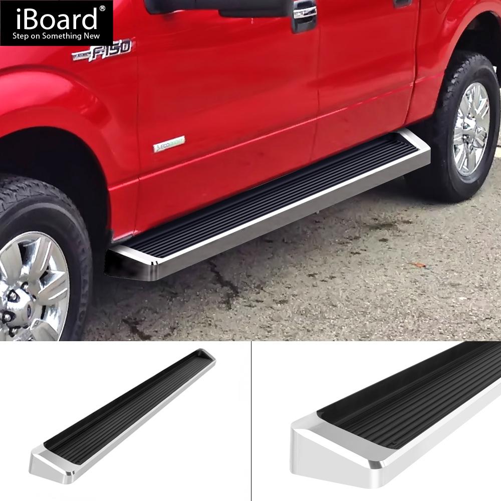 "iBoard Running Boards 6/"" Matte Black Fit 09-14 Ford F150 Super Cab"