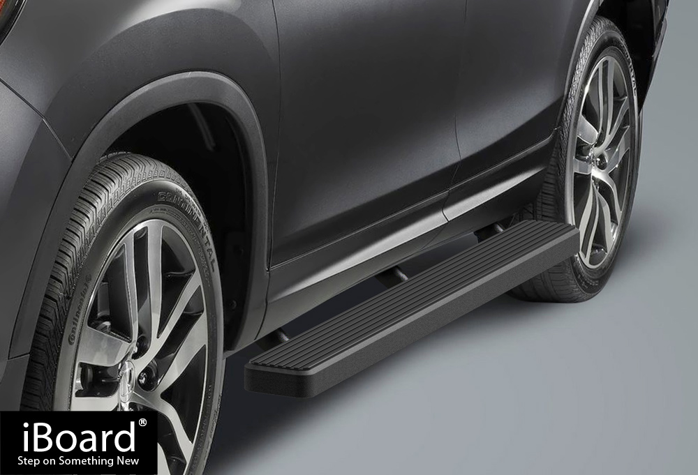 "Premium 4/"" Black iBoard Side Steps Fit 16-19 Honda Pilot"