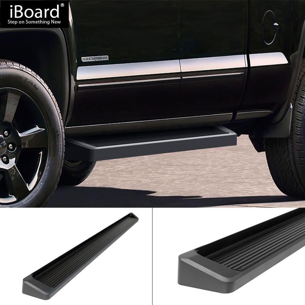 "Premium 6"" Black IBoard Side Steps Fit 07-18 Silverado"