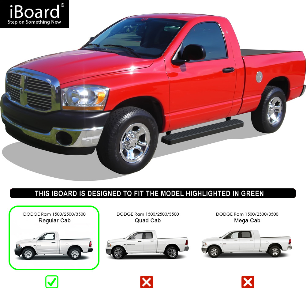 "Dodge Ram Cabs: 5"" IBoard Running Boards Nerf Bars"
