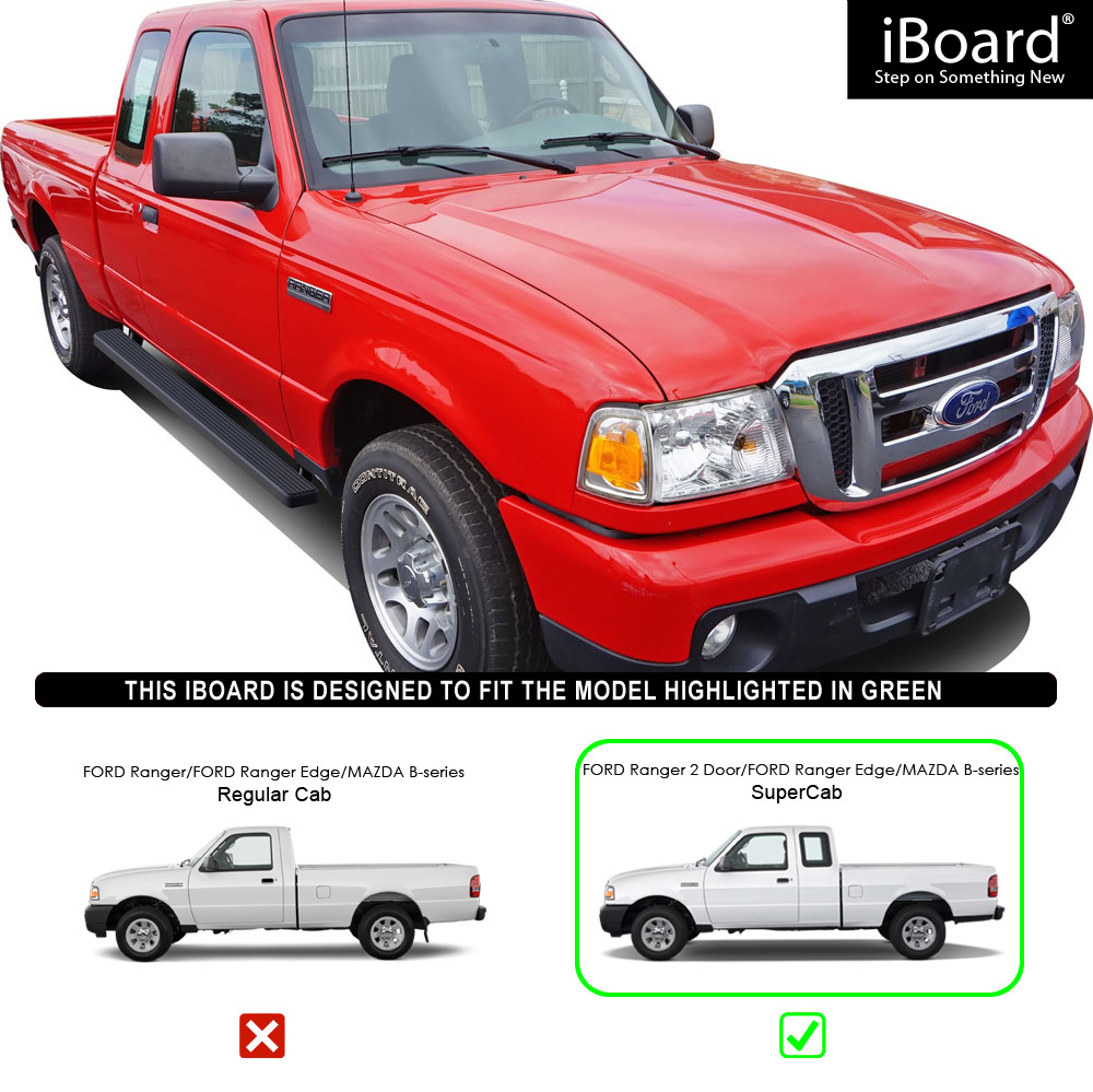 """4"""" IBoard Running Boards Nerf Bars Fit 98-11 Ford Ranger"""