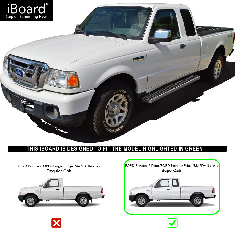 """Ford Ranger 2 2 Supercab For Sale: 5"""" IBoard Running Boards Nerf Bars Fit 98-11 Ford Ranger"""