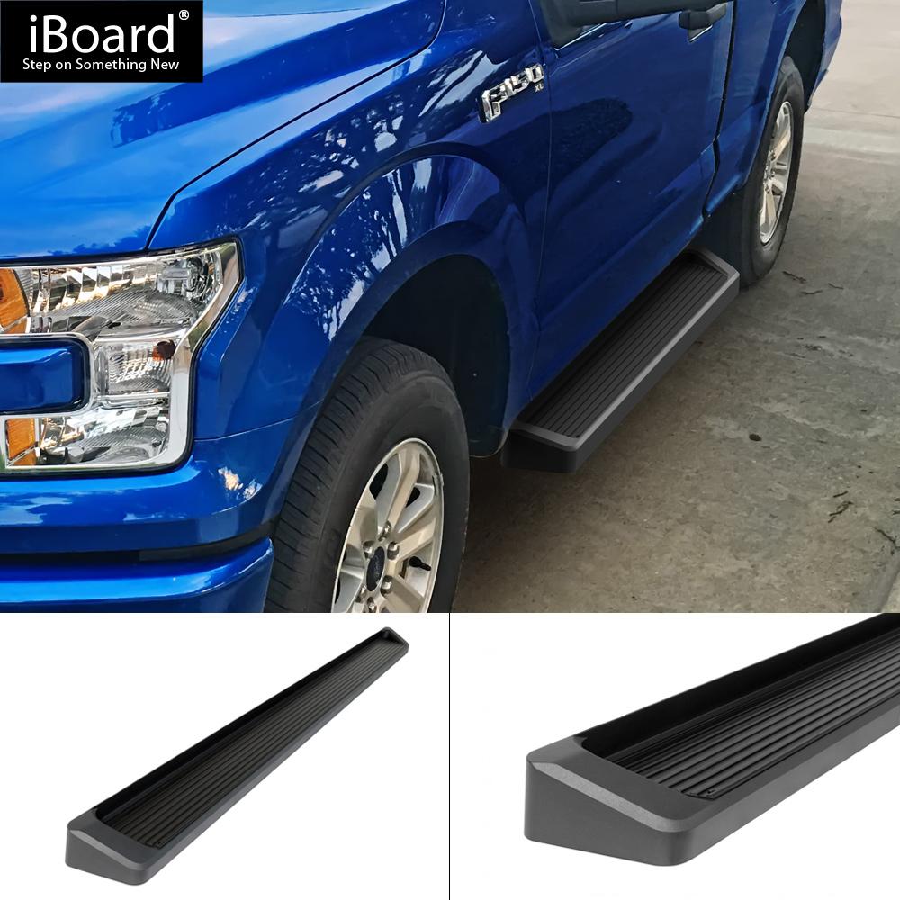 "F150//17 6/""ALUMINUM BLACK SIDE STEP RAIL RUNNING BOARDS 15 F250 REGULAR CAB"