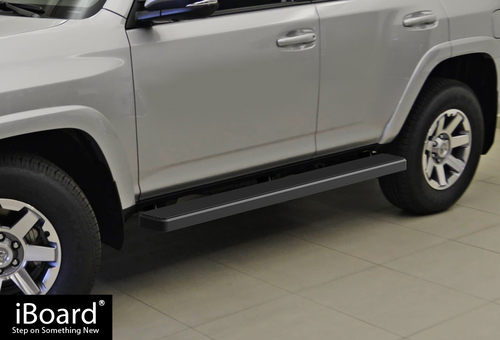 "Premium 5/"" Black iBoard Side Steps Fit 14-19 Toyota 4Runner SR5//TRAIL"
